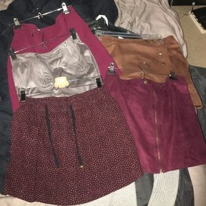 5 size large skirts from 3 nice stores